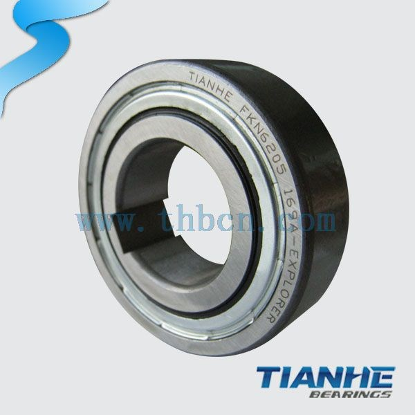 One way lock bearing FK6205 freewheel clutch 6205 ball bearings