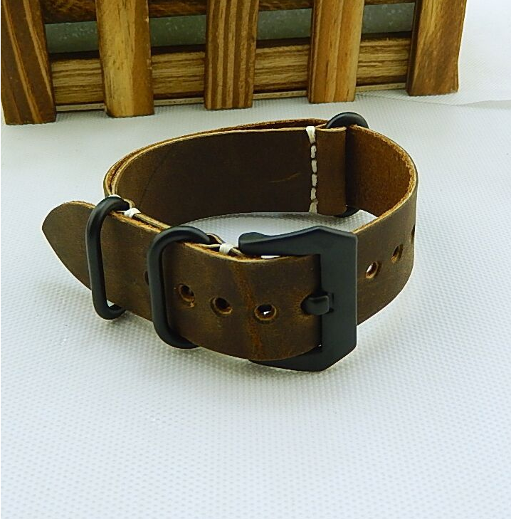 Real Cow Leather Band Crazy Horse Top Quality <strong>Watch</strong> Straps