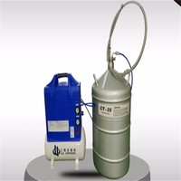 Liquid nitrogen pump transfer nitrogen liquid into YDS-50B LN2 tank for cold storage
