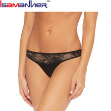 Design your own black lace flower string thong for women sexy