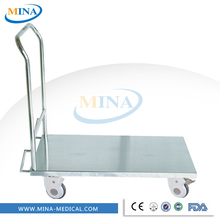 MINA-DC003 portable stainless steel platform hand trolley prices