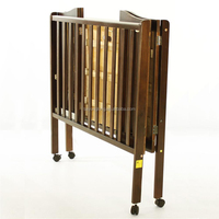 Simple wooden cot designs foldable baby cot folding cot