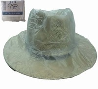 Hot sales cheap high quality transparent PVC rain bonnet/rain hood
