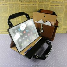 Luxury leather laptop case for ipad air 2 multifunctional business handle tablet bag for ipad wholesale