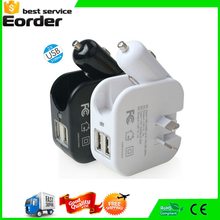 2 USB DC 5V 2A Phone Battery Charger With Car Charger