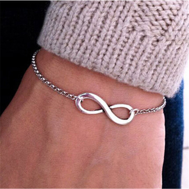 SL040 Hot New 2016 Bijoux Fashion Vintage Infinity 8 Bracelet For Women Bracelets Gift Wholesale Bangles Men Jewelry