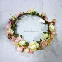 Whilesale top sale silk flower <strong>crown</strong> imported from China yiwu