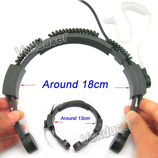 [M-E1979-M] large size Throat Microphone with two pin jack for Motorola GTI GTX LTS2000 VL130 PMR446 ECP100 PR400 EP450