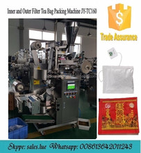 automatic double tea bag packing machine with tag and thread