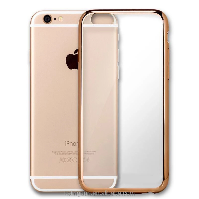 Ultra Thin Clear TPU Bumper Soft Case Back Cover Skin For iPhone6/6s/7