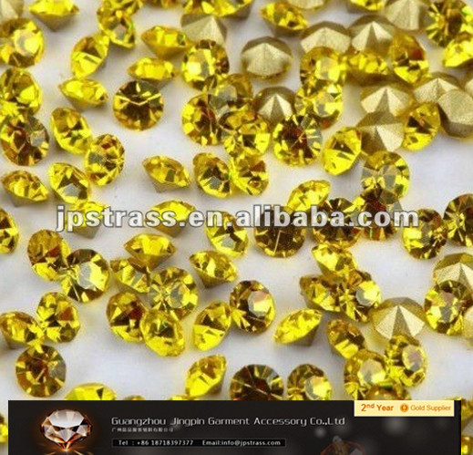 Free sample full color Chaton point back rhinestone factory directly sale