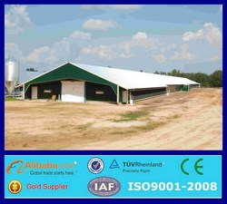 prefabricated metal industrial chicken house for sale