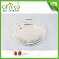 round silver plated serving tray / food platter/ catering supplies