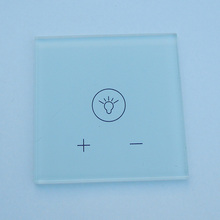 OEM / ODM fashion toughened glass panel led light switch glass plate