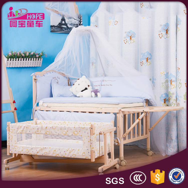 Hot Sale Wooden Baby Crib Baby Bed