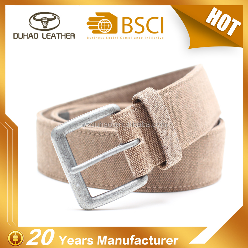 The newest plain cotton braided canvas belt