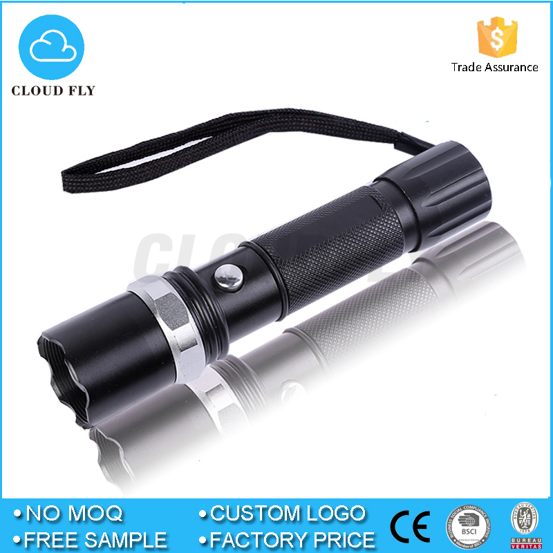 Super Bright Black 2000LM Waterproof LED Flashlight Mechanical Zoomable LED Torch Light Linternas