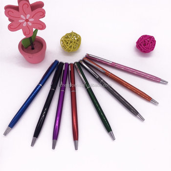 cheapest metal pen aluminium material metal hotel pen