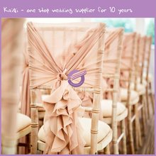 19869 Wedding Table And Chairs Decoration Ruffled Wedding Chair Hoods Cover