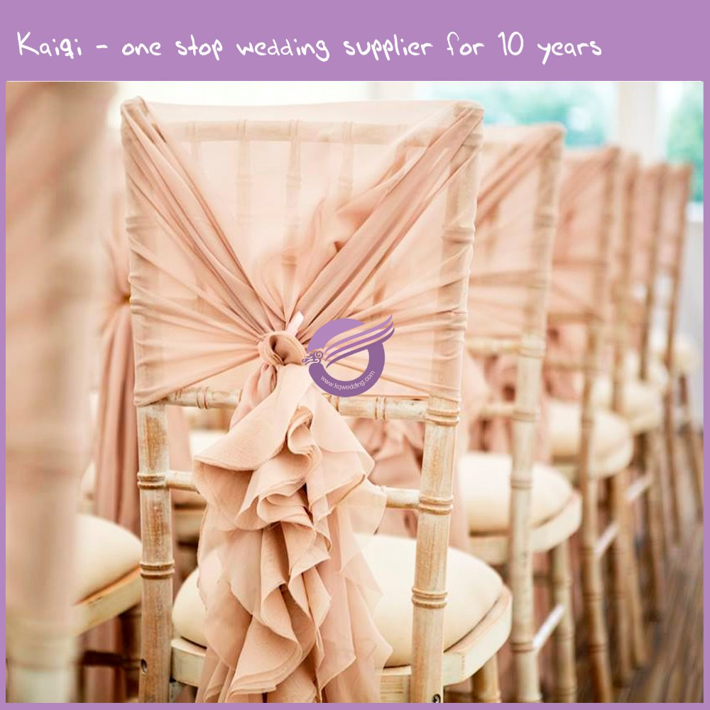 YT1869G Wedding Table And Chairs Decoration Ruffled Wedding Chair Hoods Cover