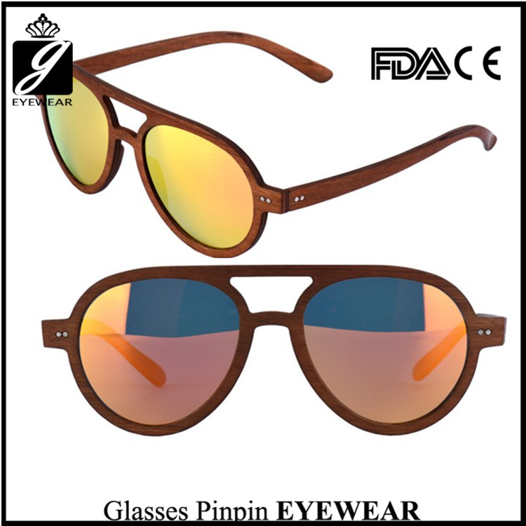 New Trendy Sun glasses Premium Wood Sunglases With Small MOQ