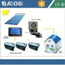 Arosi high quality best price 2kw solar energy system makeup power puff