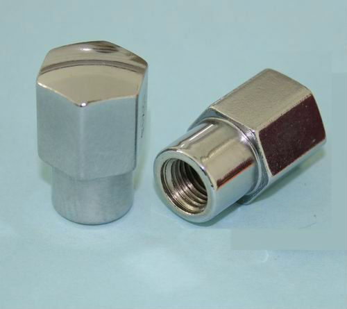 chrome hexagonal car wheel lug nuts