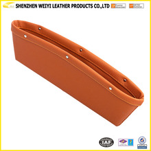 Light Brown Color PU Car Seat Gap Filler Pocket By New Design And High Quality And Cheap Price