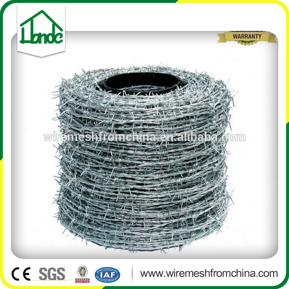 easy install different types of colored barbed iron wire