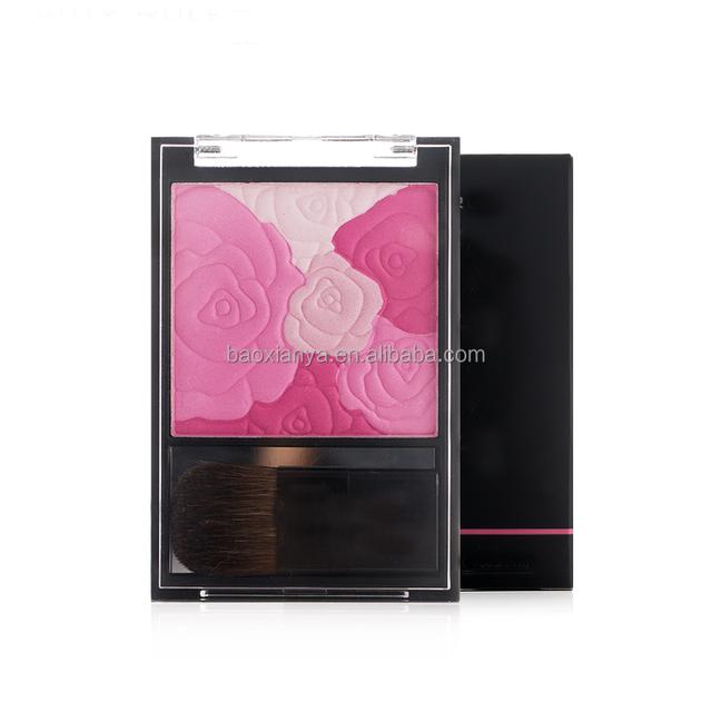 OEM Make You Own Brands Logo Makeup Highlighter Waterproof Kiss Beauty Blusher