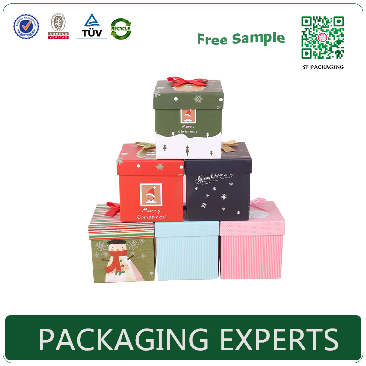 Best-selling fashionable Colorful Christmas Decoration Retail Box Gift Packaging