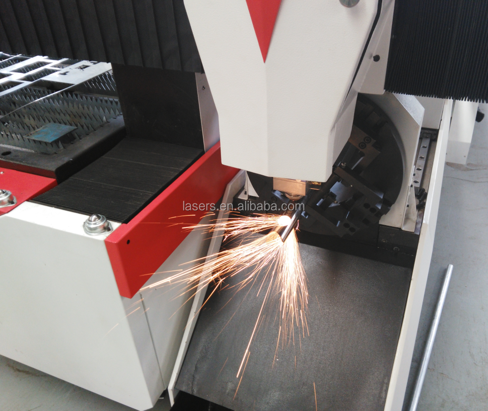 Metal tube and sheet metal laser cutting machine |500W 700W 1000W fiber laser cutting machine