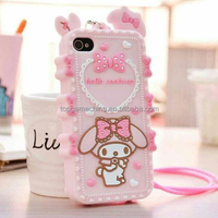 Cute Cartoon Design Melody Phone Case Soft Silicone Cover for iPhone 4 4S 5 5S SE 6 6S 6 Plus 6S Plus