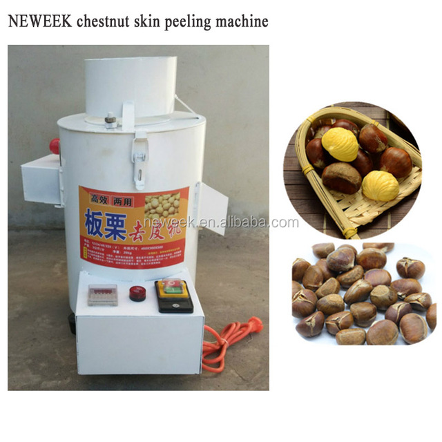 NEWEEK 99% peeling rate 4 blades chestnut skin removing machine