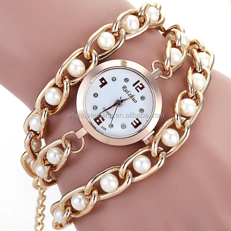 gros lady perle en acier inoxydable cha ne ovale cadran bricolage montre bracelet montres id. Black Bedroom Furniture Sets. Home Design Ideas
