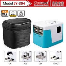 International universal travel adapter US EU UK AUS plug and socket 220V power adaptor