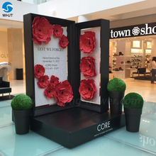 Wholesale cheap factory custom size hot sale flower wall backdrop giant artificial paper poppy flower decoration flower