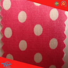 2015 China Textile Fabric HIgh Quality Black White Dot Cotton Calico Fabric
