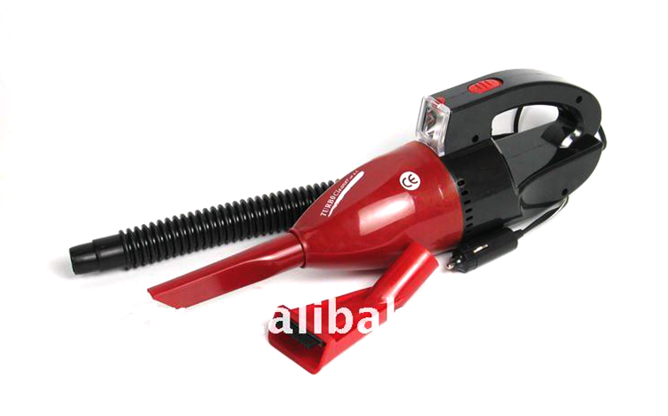 Portable car vacuum cleaner with air compressor