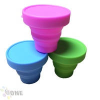 Stock product silicone high quality foldable cup silicone