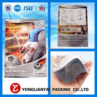 Decorative heat seal resealable plastic bags for food express in alibaba
