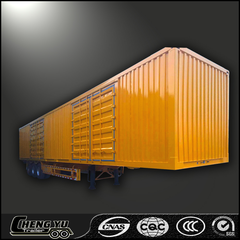 China factory van type trailer cargo box type trailer