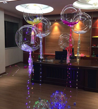 2017 Latest decoration LED balloon lights the most popular gift toys bobo balloon for Christmas new year birthday wedding party