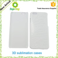 Factory High Quality 3D Film Sublimation Blank Case for Iphone and for Samsung , 3D Printing Blank Phone Case for Iphone 6