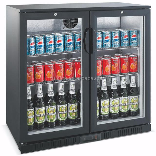 DUKERS 2 doors 208L bottle cooler with higed door