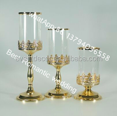 Clear glass stem candle holder bulk glass votive candle for Cheap tall candlestick holders