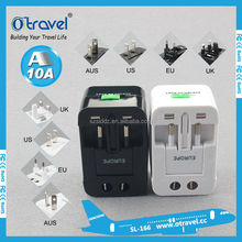Multi plug use travel electric adapters for international travel and business
