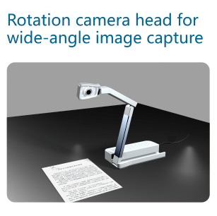 Education equipment flexible camera arm and head portable visual presenter