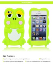 silicone case shaped animal of frog for iphone 5, hot selling 3d animal shape cell phone case for iphone 5