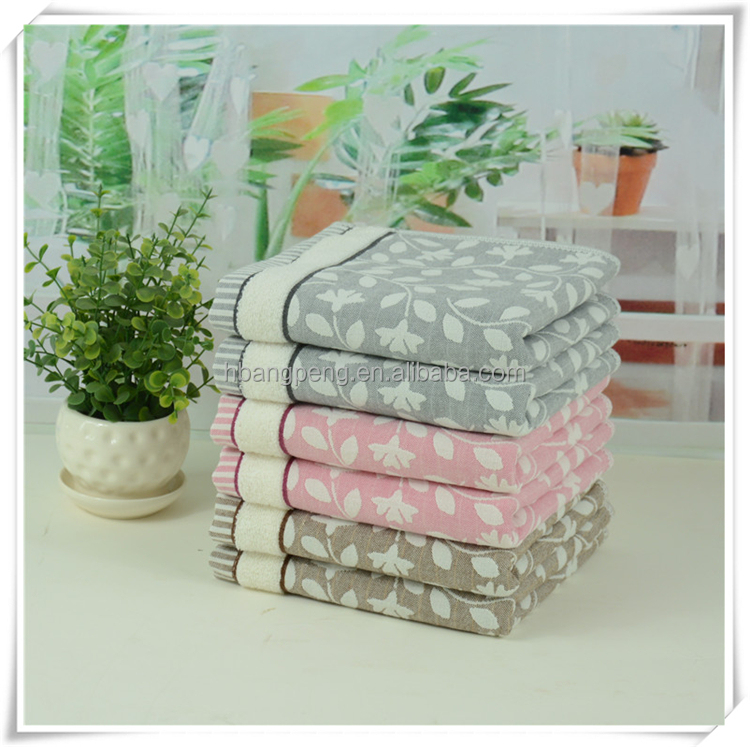 Home textile cotton towels in high quality
